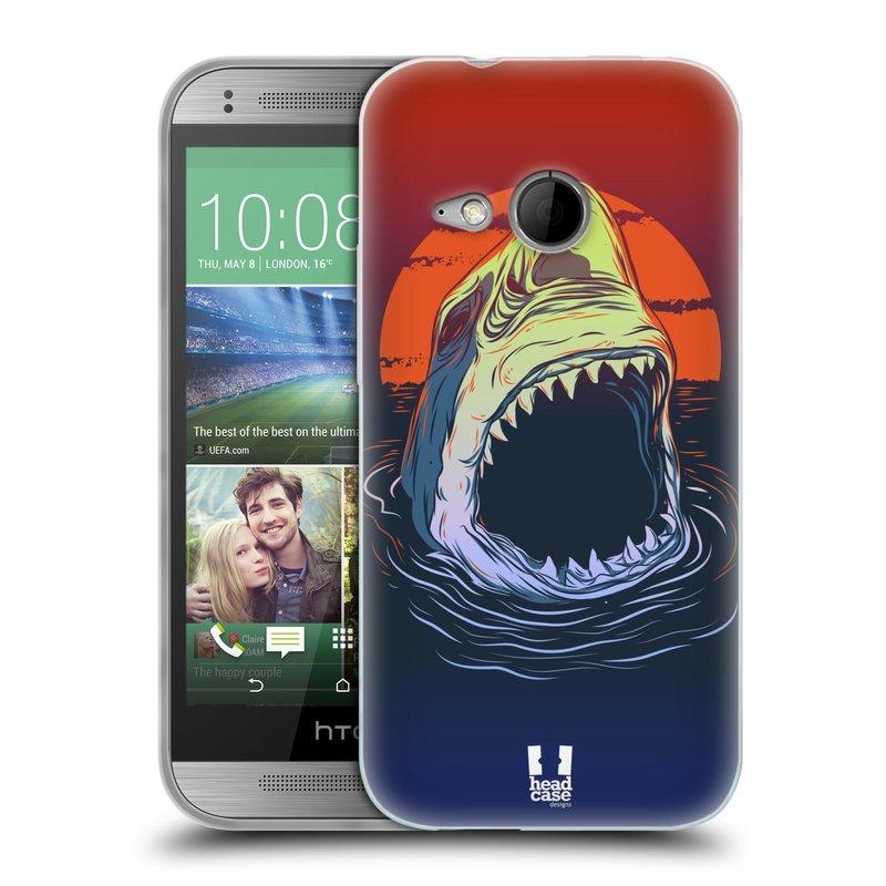 Silikonové pouzdro na mobil HTC ONE Mini 2 HEAD CASE HLADOVÝ ŽRALOK (Silikonový kryt či obal na mobilní telefon HTC ONE Mini 2)