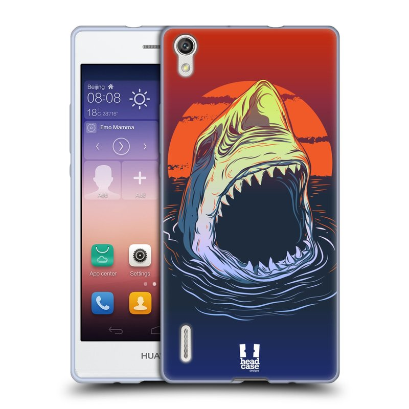 Silikonové pouzdro na mobil Huawei P7 HEAD CASE HLADOVÝ ŽRALOK (Silikonový kryt či obal na mobilní telefon Huawei Ascend P7)