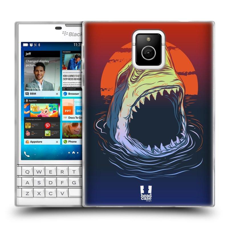 Silikonové pouzdro na mobil Blackberry PASSPORT HEAD CASE HLADOVÝ ŽRALOK (Silikonový kryt či obal na mobilní telefon Blackberry PASSPORT)