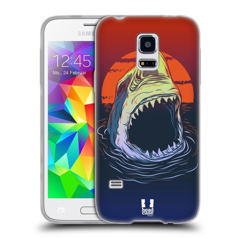 Silikonové pouzdro na mobil Samsung Galaxy S5 Mini HEAD CASE HLADOVÝ ŽRALOK (Silikonový kryt či obal na mobilní telefon Samsung Galaxy S5 Mini SM-G800F)