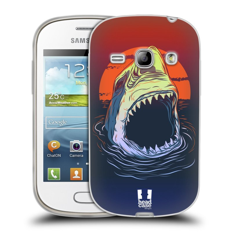 Silikonové pouzdro na mobil Samsung Galaxy Fame HEAD CASE HLADOVÝ ŽRALOK (Silikonový kryt či obal na mobilní telefon Samsung Galaxy Fame GT-S6810)