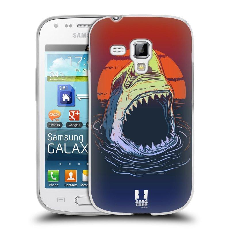 Silikonové pouzdro na mobil Samsung Galaxy S Duos HEAD CASE HLADOVÝ ŽRALOK (Silikonový kryt či obal na mobilní telefon Samsung Galaxy S Duos GT-S7562)
