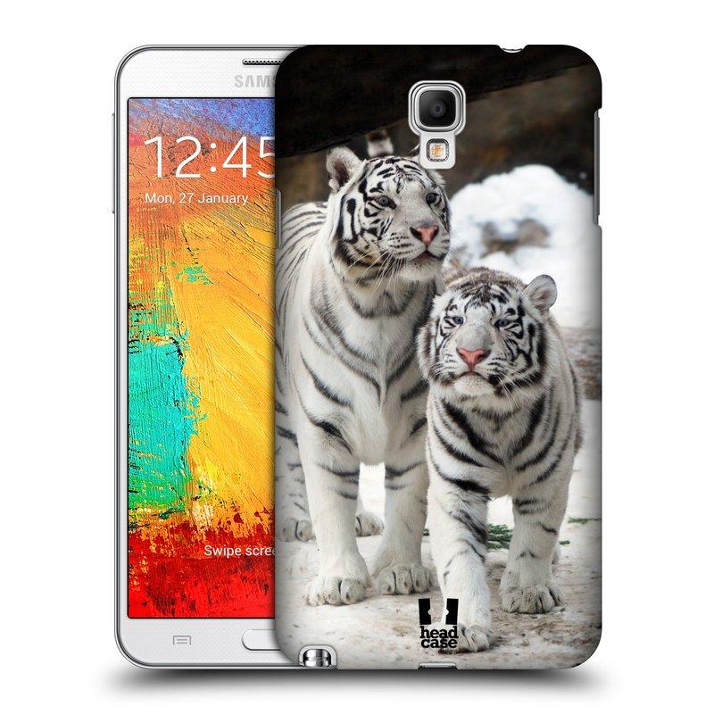 Plastové pouzdro na mobil Samsung Galaxy Note 3 Neo HEAD CASE BÍLÍ TYGŘI (Kryt či obal na mobilní telefon Samsung Galaxy Note 3 Neo SM-N7505)