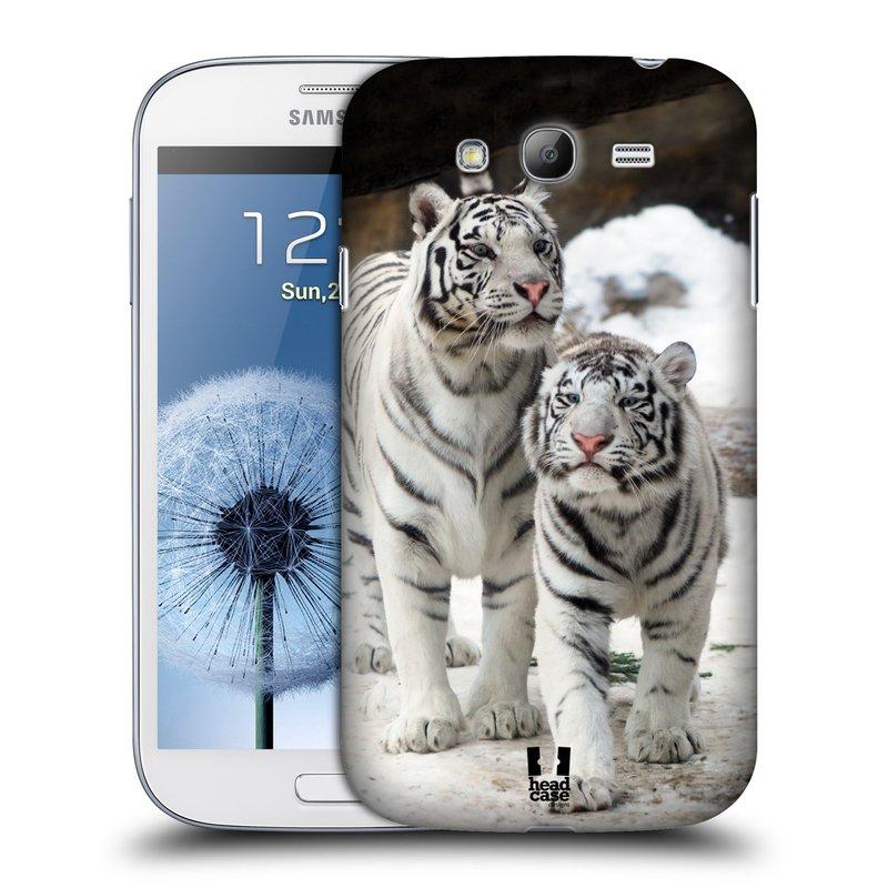 Plastové pouzdro na mobil Samsung Galaxy Grand Neo Plus HEAD CASE BÍLÍ TYGŘI (Kryt či obal na mobilní telefon Samsung Galaxy Grand Neo Plus GT-i9060i)