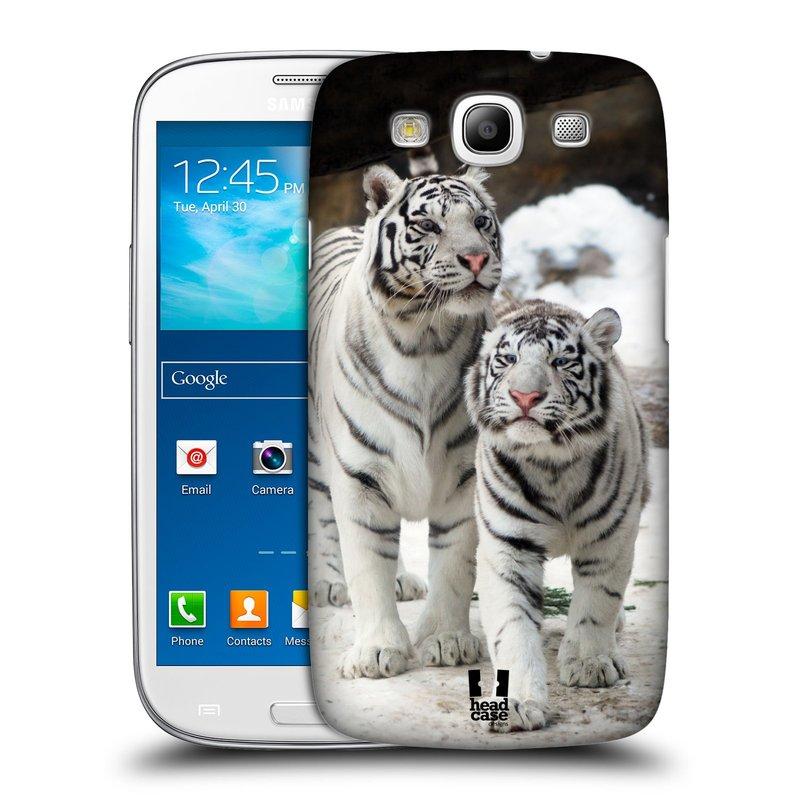 Plastové pouzdro na mobil Samsung Galaxy S3 Neo HEAD CASE BÍLÍ TYGŘI (Kryt či obal na mobilní telefon Samsung Galaxy S3 Neo GT-i9301i)