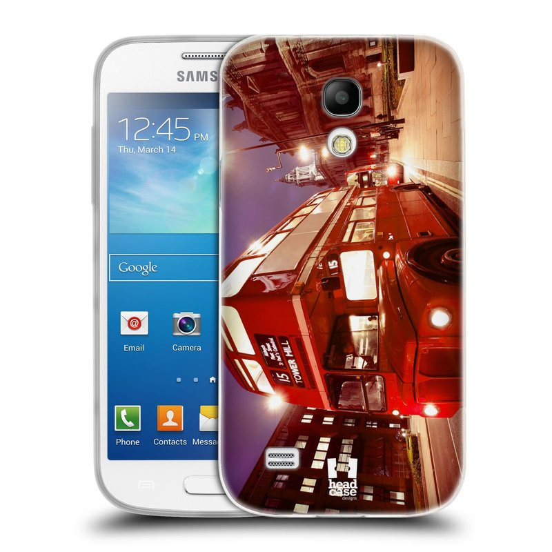 Silikonové pouzdro na mobil Samsung Galaxy S4 Mini HEAD CASE DOUBLE DECKER (Silikonový kryt či obal na mobilní telefon Samsung Galaxy S4 Mini GT-i9195 / i9190 (nepasuje na verzi Black Edition))