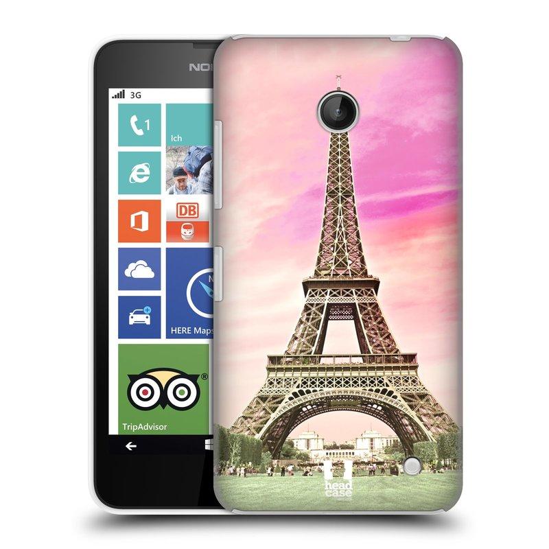 Plastové pouzdro na mobil Nokia Lumia 630 HEAD CASE RŮŽOVÁ AIFELOVKA (Kryt či obal na mobilní telefon Nokia Lumia 630 a Nokia Lumia 630 Dual SIM)