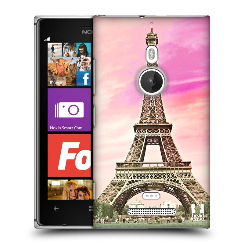 Plastové pouzdro na mobil Nokia Lumia 925 HEAD CASE RŮŽOVÁ AIFELOVKA (Kryt či obal na mobilní telefon Nokia Lumia 925)
