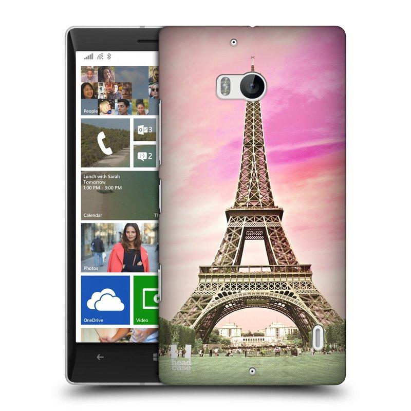 Plastové pouzdro na mobil Nokia Lumia 930 HEAD CASE RŮŽOVÁ AIFELOVKA (Kryt či obal na mobilní telefon Nokia Lumia 930)