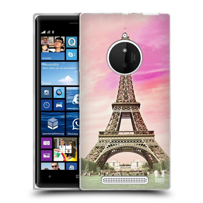 Silikonové pouzdro na mobil Nokia Lumia 830 HEAD CASE RŮŽOVÁ AIFELOVKA (Silikonový kryt či obal na mobilní telefon Nokia Lumia 830)