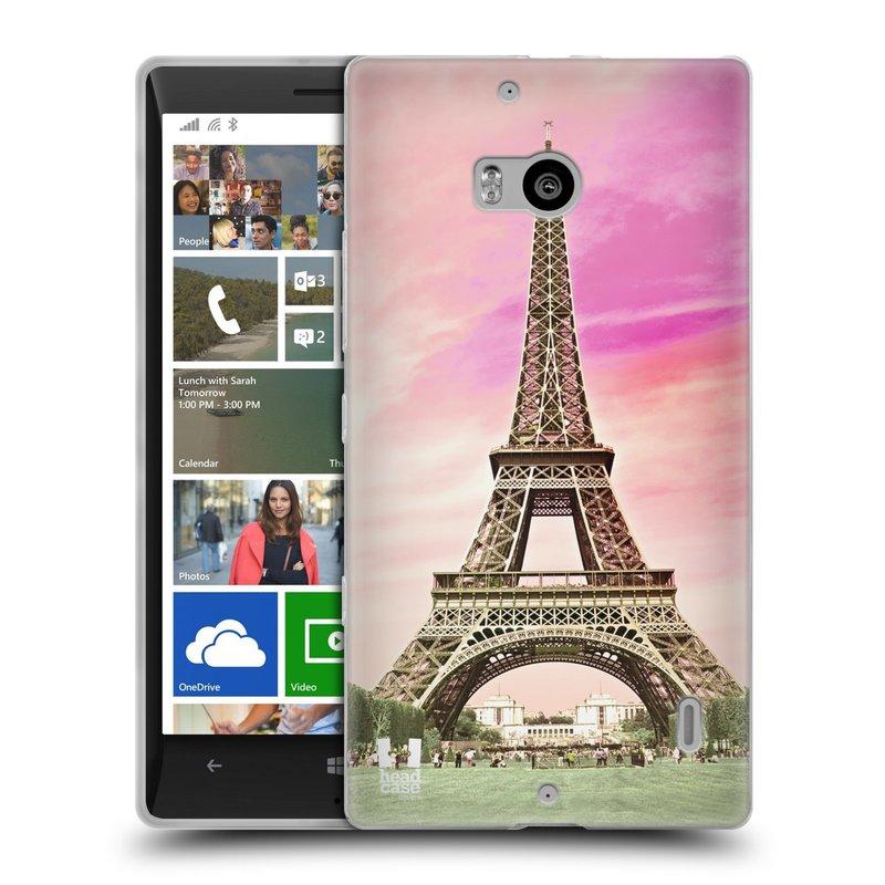 Silikonové pouzdro na mobil Nokia Lumia 930 HEAD CASE RŮŽOVÁ AIFELOVKA (Silikonový kryt či obal na mobilní telefon Nokia Lumia 930)