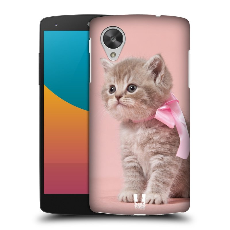Plastové pouzdro na mobil LG Nexus 5 HEAD CASE KOTĚ S MAŠLÍ (Kryt či obal na mobilní telefon LG Google Nexus 5 D821)