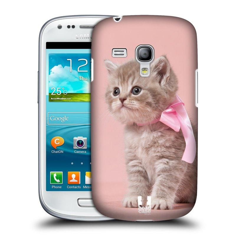 Plastové pouzdro na mobil Samsung Galaxy S III Mini HEAD CASE KOTĚ S MAŠLÍ (Kryt či obal na mobilní telefon Samsung Galaxy S III Mini GT-i8190)