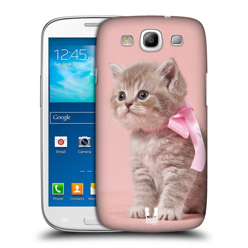 Plastové pouzdro na mobil Samsung Galaxy S3 Neo HEAD CASE KOTĚ S MAŠLÍ (Kryt či obal na mobilní telefon Samsung Galaxy S3 Neo GT-i9301i)
