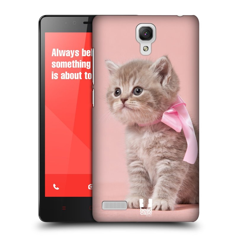 Plastové pouzdro na mobil Xiaomi Redmi Note LTE HEAD CASE KOTĚ S MAŠLÍ (Kryt či obal na mobilní telefon Xiaomi Redmi Note LTE (4G) s 5,5'' displejem)