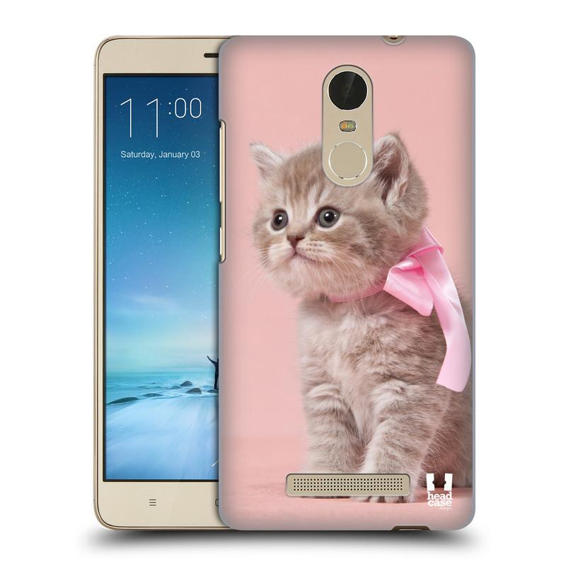 """Plastové pouzdro na mobil Xiaomi Redmi Note 3 HEAD CASE KOTĚ S MAŠLÍ (Kryt či obal na mobilní telefon Xiaomi Redmi Note 3 s 5,5"""" displejem)"""