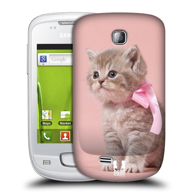 Plastové pouzdro na mobil Samsung Galaxy Mini HEAD CASE KOTĚ S MAŠLÍ (Kryt či obal na mobilní telefon Samsung Galaxy Mini GT-S5570 / GT-S5570i)