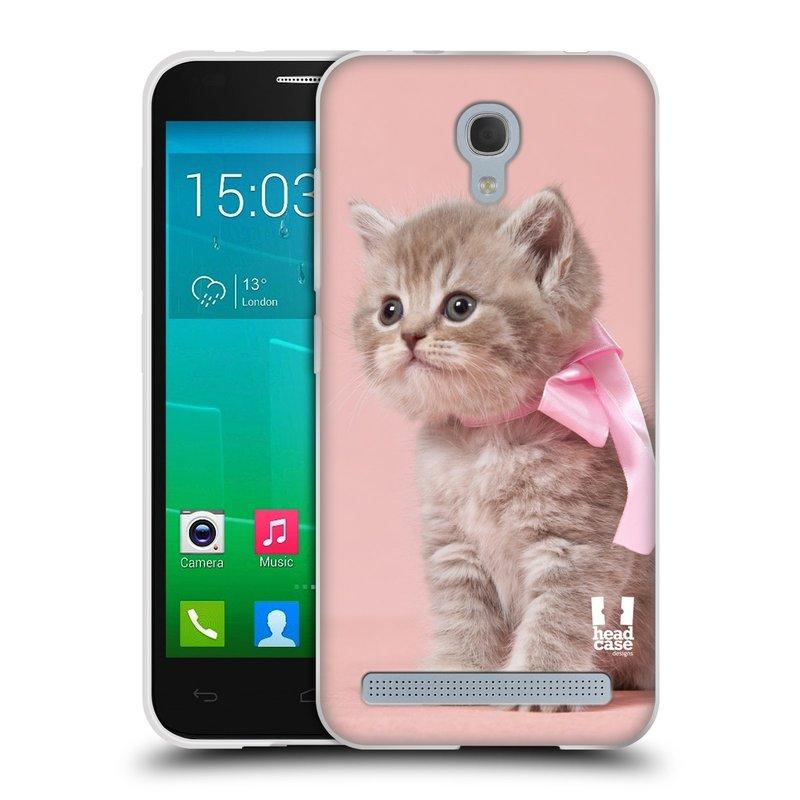 Silikonové pouzdro na mobil Alcatel One Touch Idol 2 Mini S 6036Y HEAD CASE KOTĚ S MAŠLÍ (Silikonový kryt či obal na mobilní telefon Alcatel Idol 2 Mini S OT-6036Y)