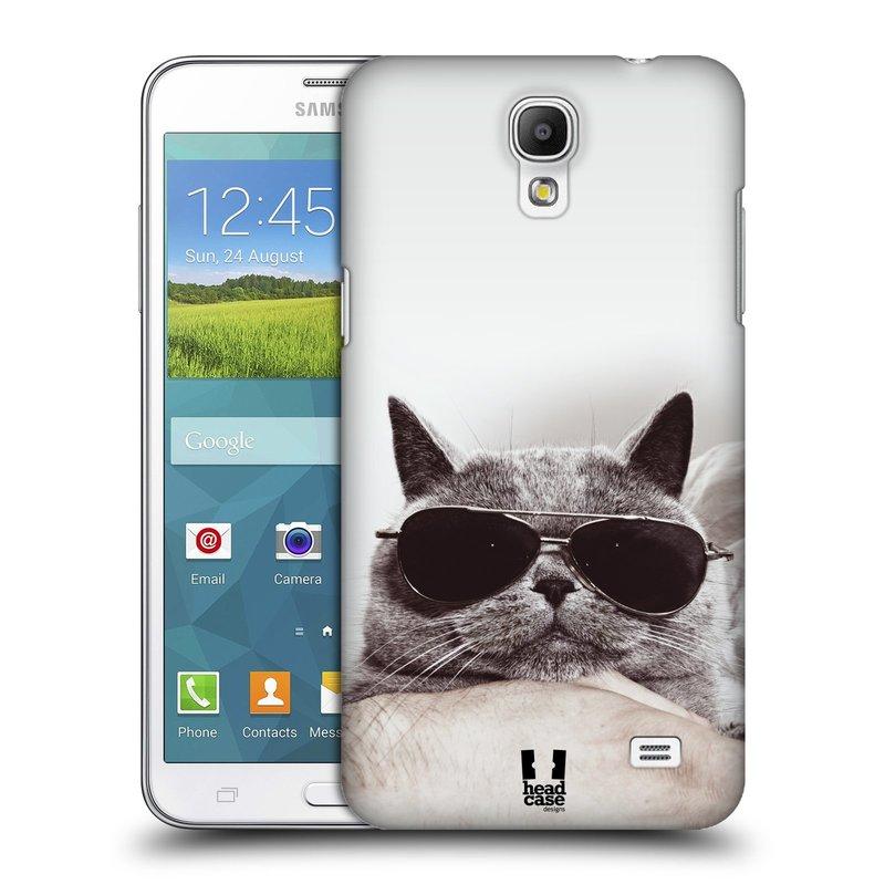 Plastové pouzdro na mobil Samsung Galaxy Grand Mega 2 HEAD CASE KOTĚ S BRÝLEMI (Kryt či obal na mobilní telefon Samsung Galaxy Grand Mega 2 SM-G750)