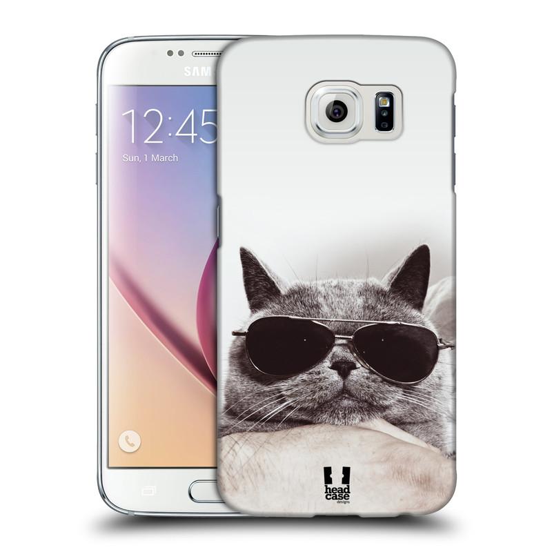 Plastové pouzdro na mobil Samsung Galaxy S6 HEAD CASE KOTĚ S BRÝLEMI (Kryt či obal na mobilní telefon Samsung Galaxy S6 SM-G920F)