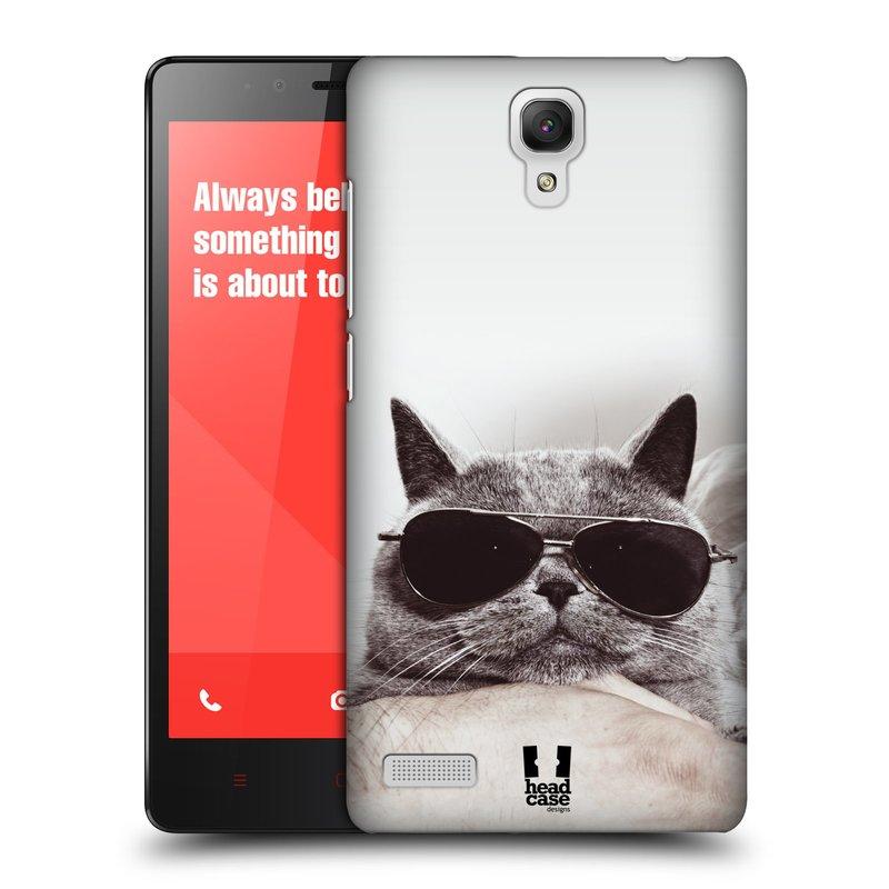 Plastové pouzdro na mobil Xiaomi Redmi Note LTE HEAD CASE KOTĚ S BRÝLEMI (Kryt či obal na mobilní telefon Xiaomi Redmi Note LTE (4G) s 5,5'' displejem)