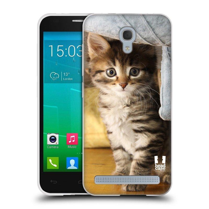 Silikonové pouzdro na mobil Alcatel One Touch Idol 2 Mini S 6036Y HEAD CASE ZVÍDAVÉ KOTĚ (Silikonový kryt či obal na mobilní telefon Alcatel Idol 2 Mini S OT-6036Y)