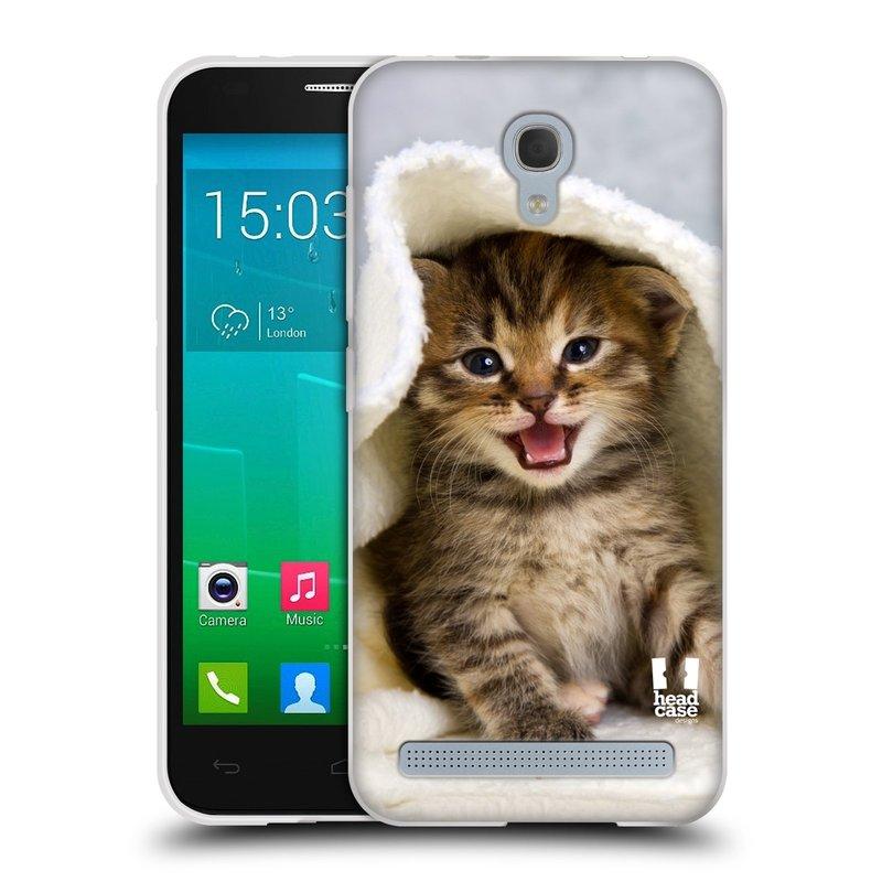 Silikonové pouzdro na mobil Alcatel One Touch Idol 2 Mini S 6036Y HEAD CASE KOTĚ V OSUŠCE (Silikonový kryt či obal na mobilní telefon Alcatel Idol 2 Mini S OT-6036Y)