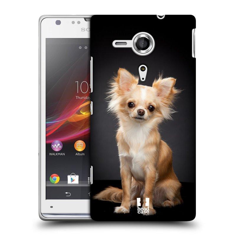 Plastové pouzdro na mobil Sony Xperia SP C5303 HEAD CASE ČIVAVA (Kryt či obal na mobilní telefon Sony Xperia SP )