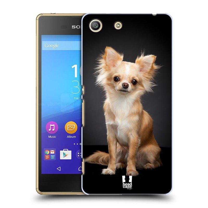 Plastové pouzdro na mobil Sony Xperia M5 HEAD CASE ČIVAVA (Kryt či obal na mobilní telefon Sony Xperia M5 Aqua)
