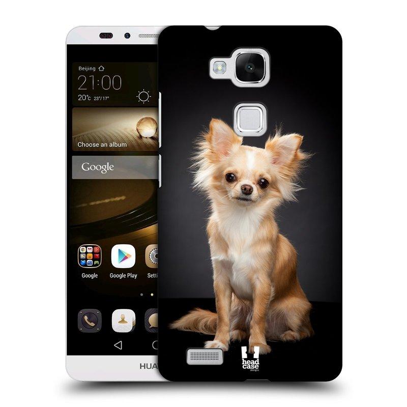 Plastové pouzdro na mobil Huawei Ascend Mate 7 HEAD CASE ČIVAVA (Kryt či obal na mobilní telefon Huawei Ascend Mate7)