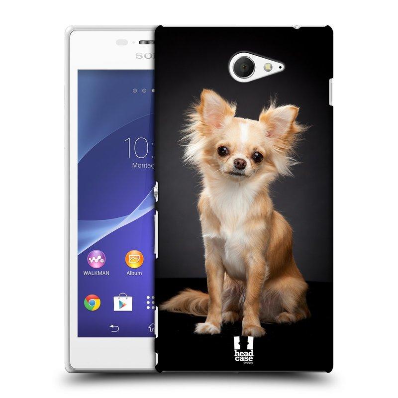 Plastové pouzdro na mobil Sony Xperia M2 D2303 HEAD CASE ČIVAVA (Kryt či obal na mobilní telefon Sony Xperia M2 )