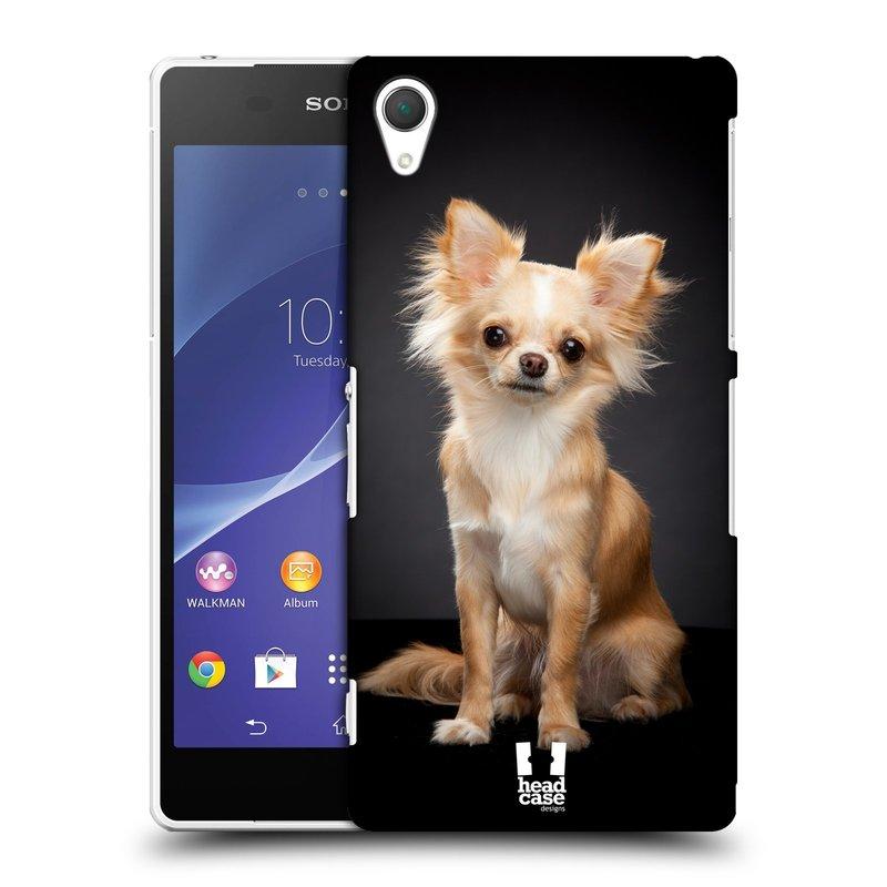 Plastové pouzdro na mobil Sony Xperia Z2 D6503 HEAD CASE ČIVAVA (Kryt či obal na mobilní telefon Sony Xperia Z2 )