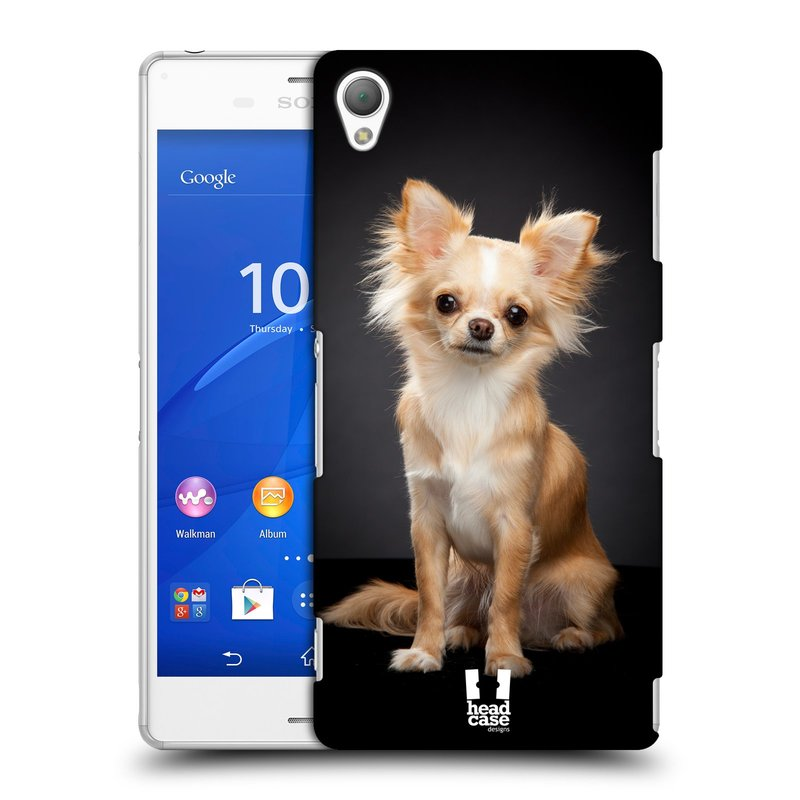 Plastové pouzdro na mobil Sony Xperia Z3 D6603 HEAD CASE ČIVAVA (Kryt či obal na mobilní telefon Sony Xperia Z3 )