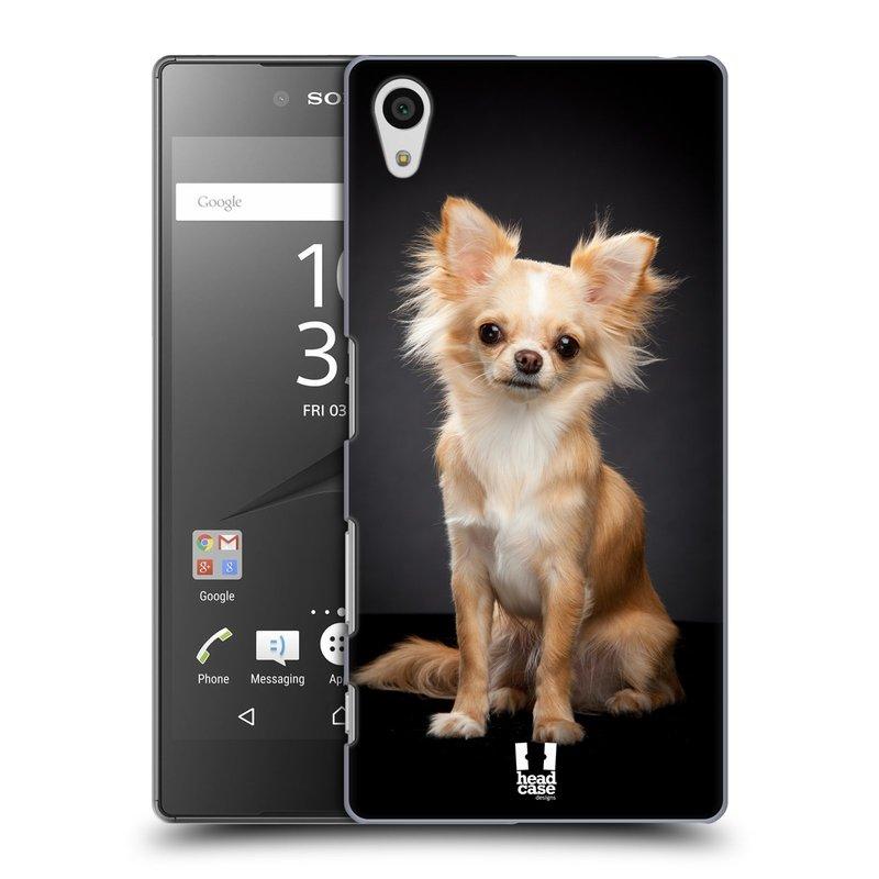 Plastové pouzdro na mobil Sony Xperia Z5 HEAD CASE ČIVAVA (Kryt či obal na mobilní telefon Sony Xperia Z5 E6653)