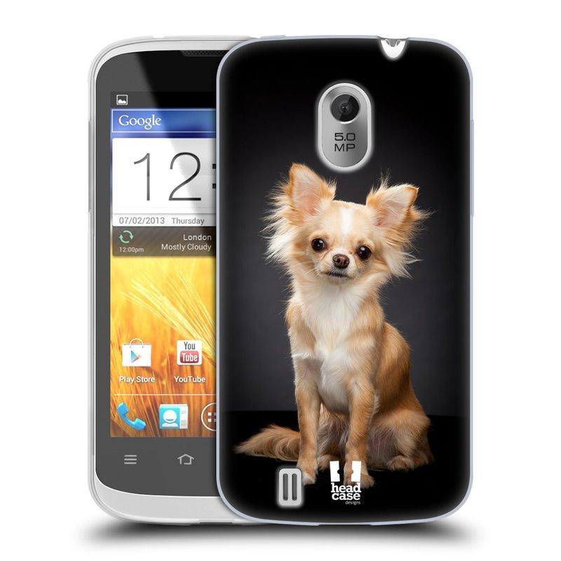 Silikonové pouzdro na mobil ZTE Blade III HEAD CASE ČIVAVA (Silikonový kryt či obal na mobilní telefon ZTE Blade 3)
