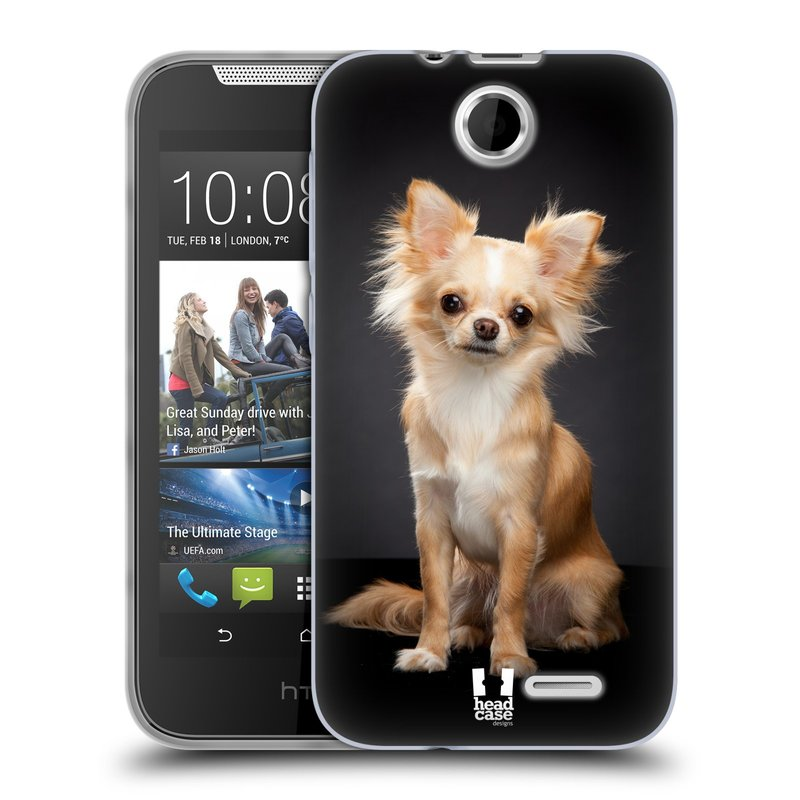 Silikonové pouzdro na mobil HTC Desire 310 HEAD CASE ČIVAVA (Silikonový kryt či obal na mobilní telefon HTC Desire 310)