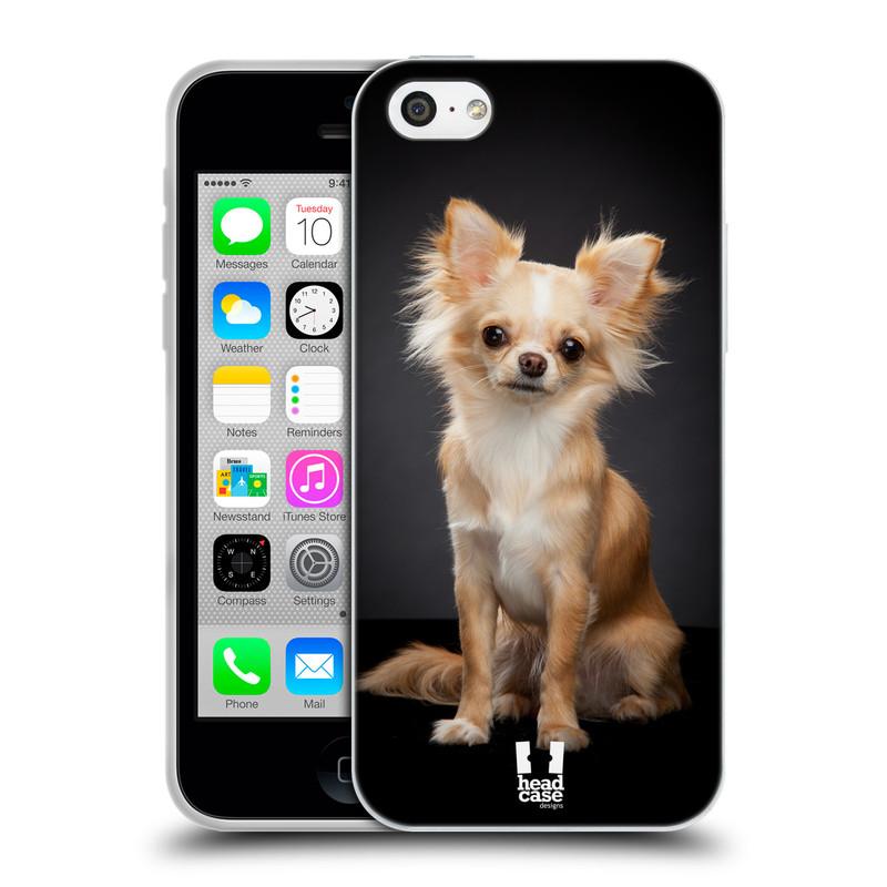 Silikonové pouzdro na mobil Apple iPhone 5C HEAD CASE ČIVAVA (Silikonový kryt či obal na mobilní telefon Apple iPhone 5C)