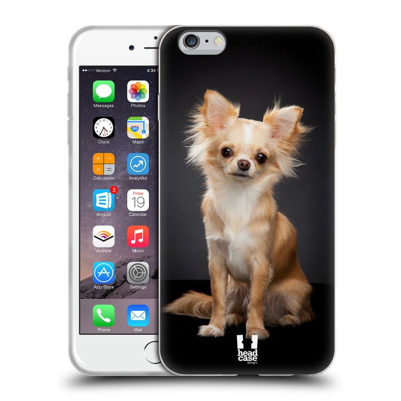 Silikonové pouzdro na mobil Apple iPhone 6 Plus a 6S Plus HEAD CASE ČIVAVA (Silikonový kryt či obal na mobilní telefon Apple iPhone 6 Plus a 6S Plus)