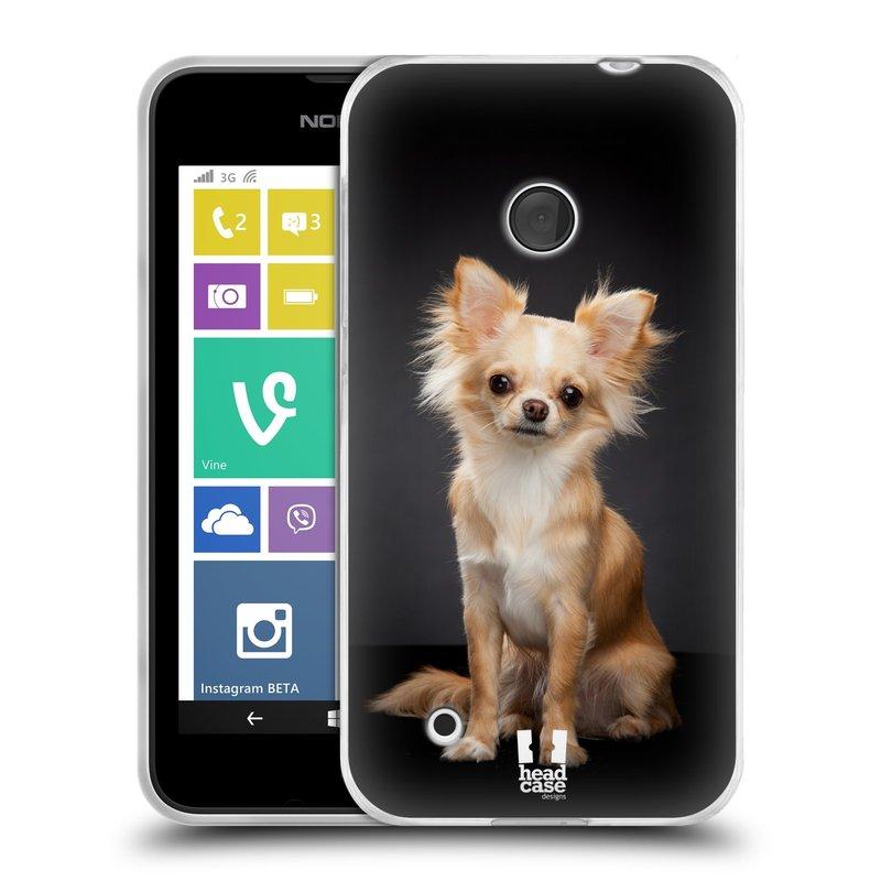 Silikonové pouzdro na mobil Nokia Lumia 530 HEAD CASE ČIVAVA (Silikonový kryt či obal na mobilní telefon Nokia Lumia 530)