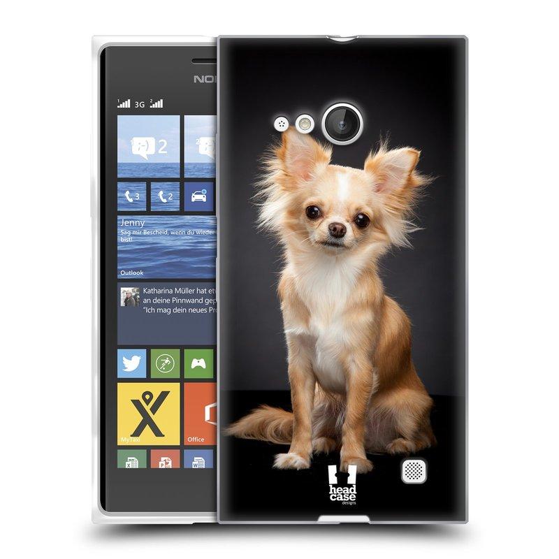 Silikonové pouzdro na mobil Nokia Lumia 735 HEAD CASE ČIVAVA (Silikonový kryt či obal na mobilní telefon Nokia Lumia 735)