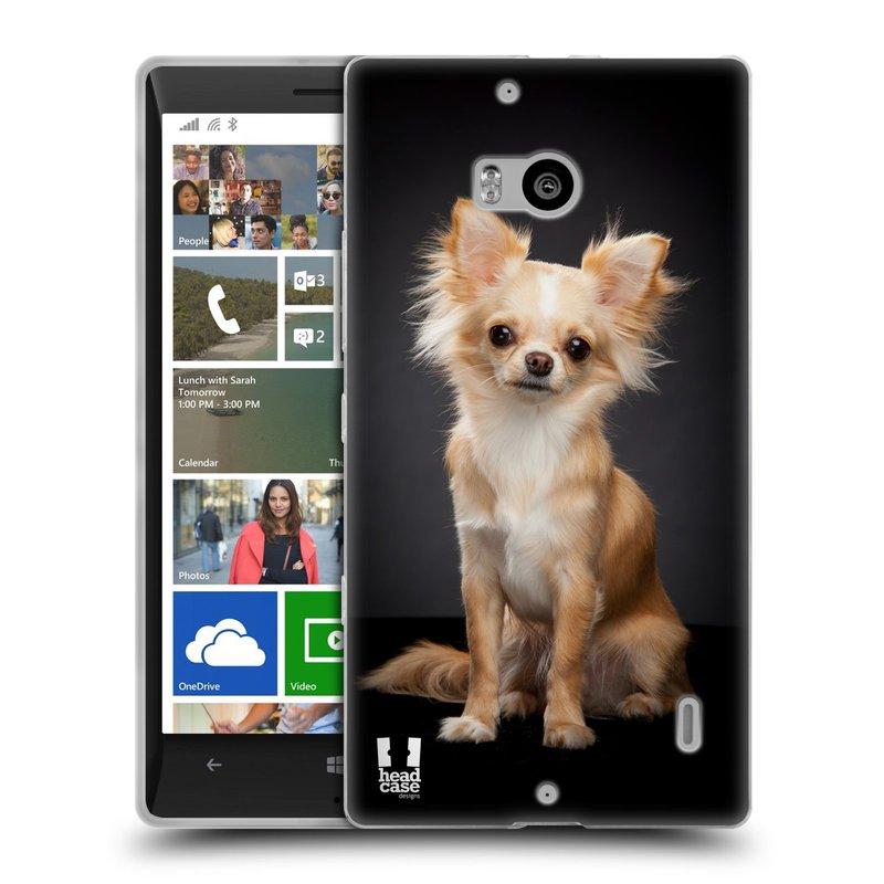 Silikonové pouzdro na mobil Nokia Lumia 930 HEAD CASE ČIVAVA (Silikonový kryt či obal na mobilní telefon Nokia Lumia 930)