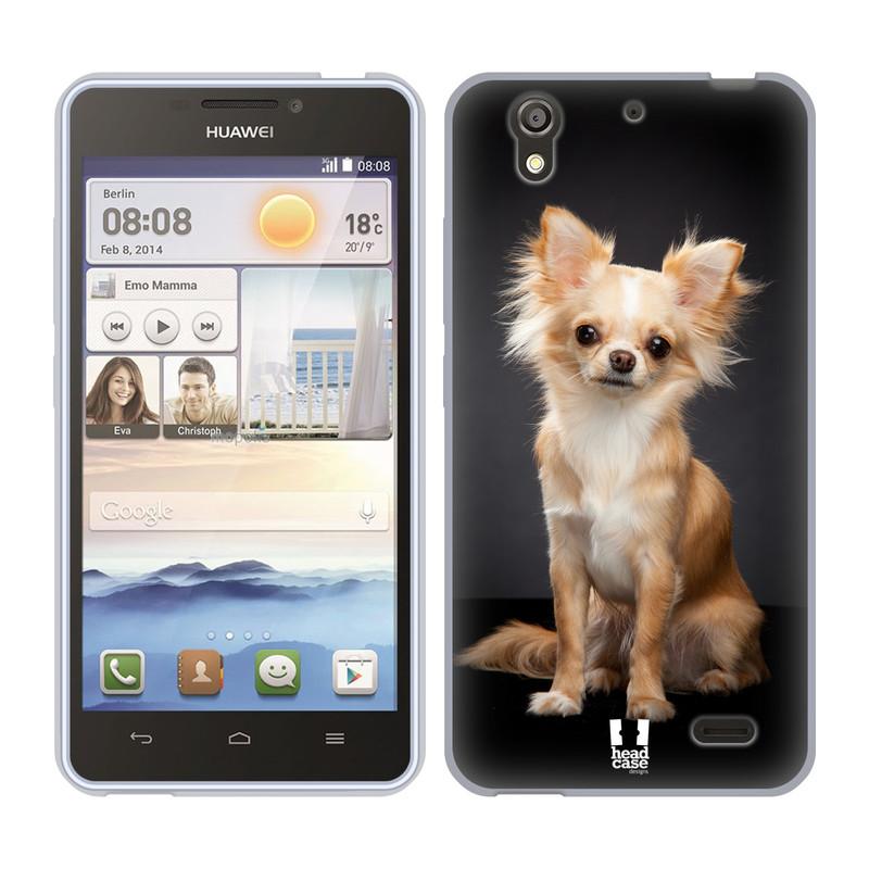 Silikonové pouzdro na mobil Huawei Ascend Y530 HEAD CASE ČIVAVA (Silikonový kryt či obal na mobilní telefon Huawei Ascend Y530)
