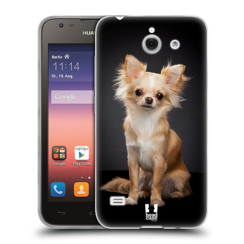 Silikonové pouzdro na mobil Huawei Ascend Y550 HEAD CASE ČIVAVA (Silikonový kryt či obal na mobilní telefon Huawei Ascend Y550)
