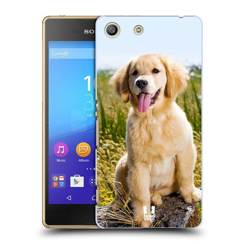 Plastové pouzdro na mobil Sony Xperia M5 HEAD CASE RETRÍVR (Kryt či obal na mobilní telefon Sony Xperia M5 Aqua)
