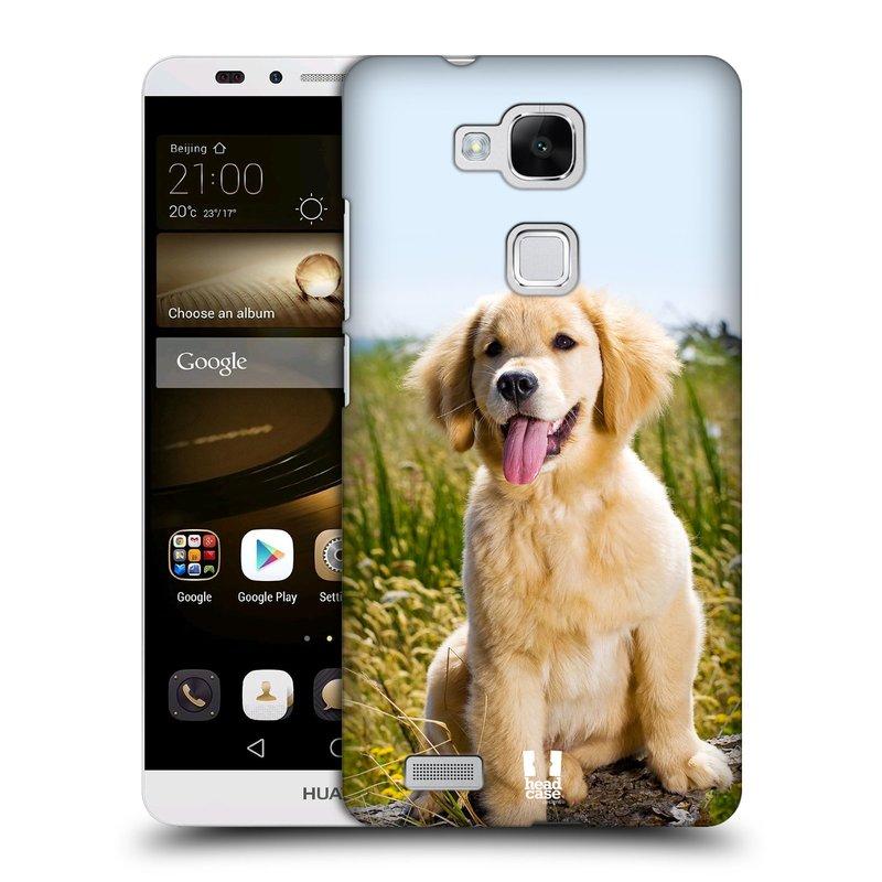 Plastové pouzdro na mobil Huawei Ascend Mate 7 HEAD CASE RETRÍVR (Kryt či obal na mobilní telefon Huawei Ascend Mate7)