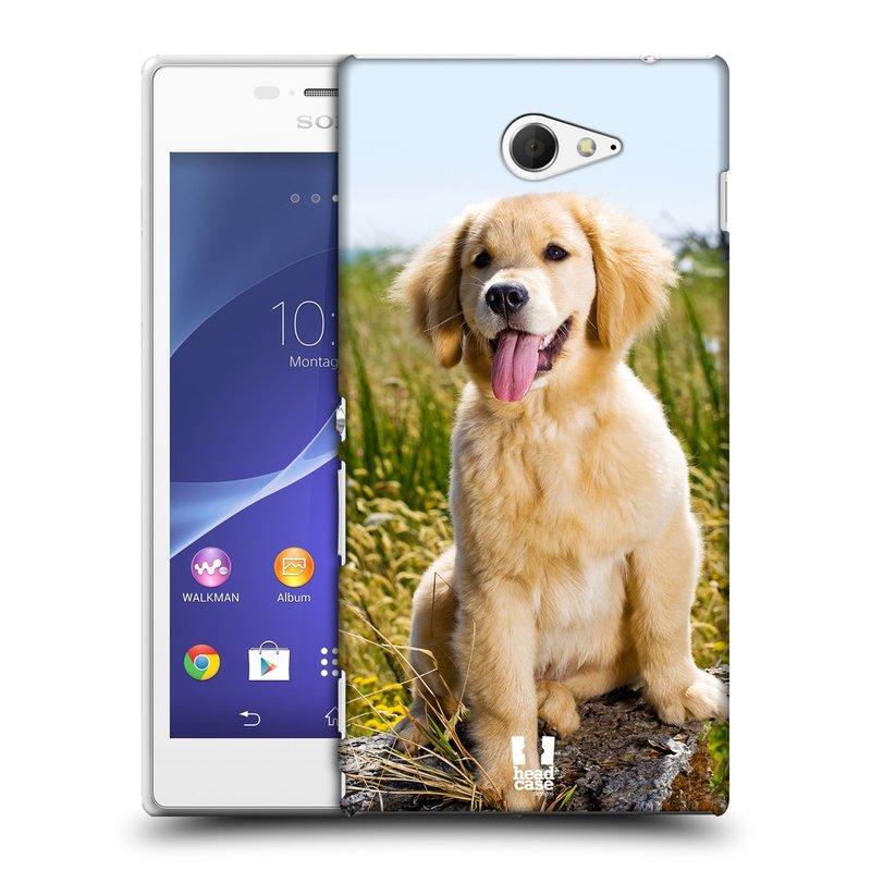 Plastové pouzdro na mobil Sony Xperia M2 D2303 HEAD CASE RETRÍVR (Kryt či obal na mobilní telefon Sony Xperia M2 )