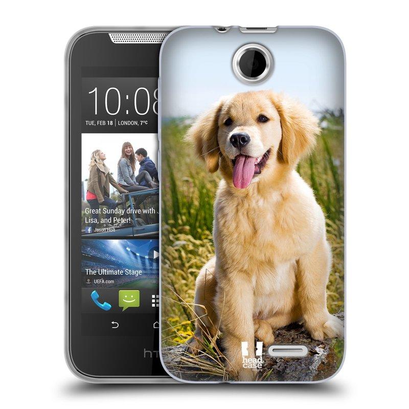 Silikonové pouzdro na mobil HTC Desire 310 HEAD CASE RETRÍVR (Silikonový kryt či obal na mobilní telefon HTC Desire 310)