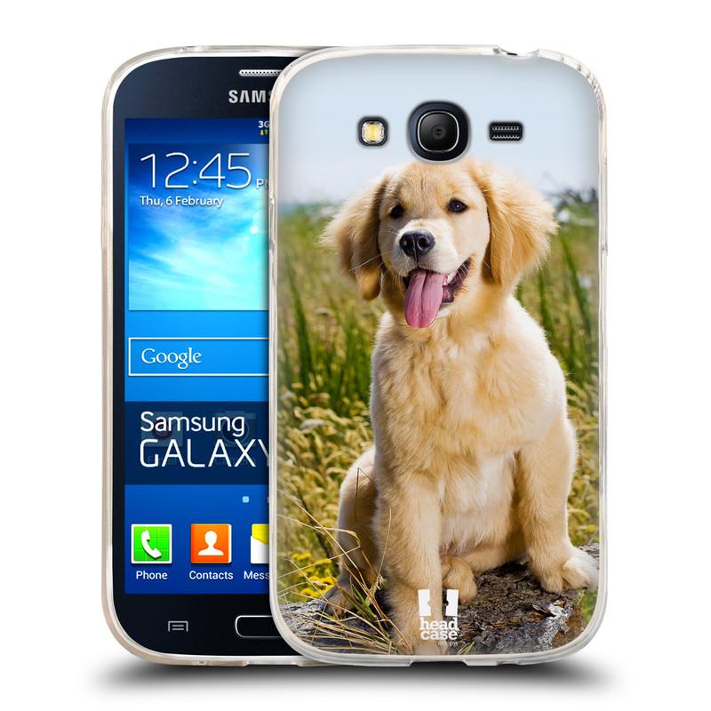 Silikonové pouzdro na mobil Samsung Galaxy Grand Neo Plus HEAD CASE RETRÍVR (Silikonový kryt či obal na mobilní telefon Samsung Galaxy Grand Neo Plus Duos GT-I9060i)