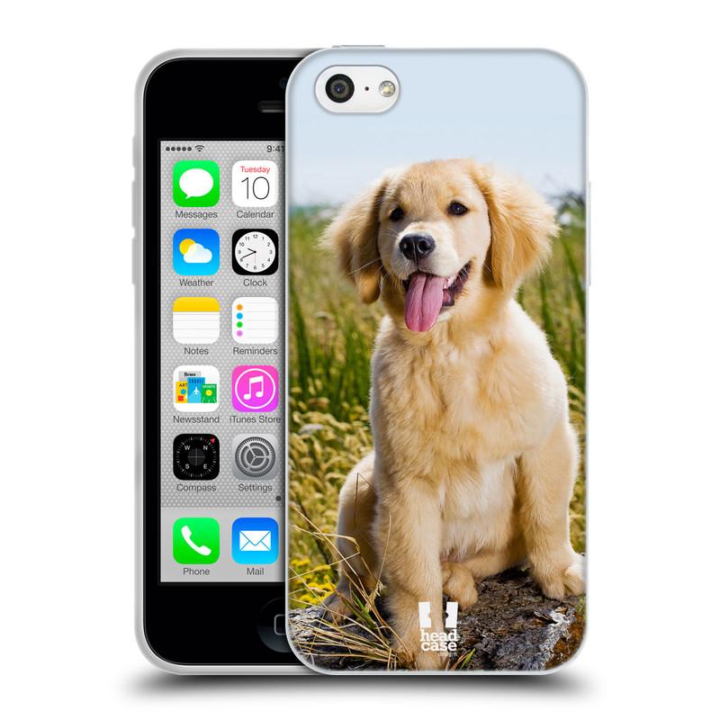 Silikonové pouzdro na mobil Apple iPhone 5C HEAD CASE RETRÍVR (Silikonový kryt či obal na mobilní telefon Apple iPhone 5C)