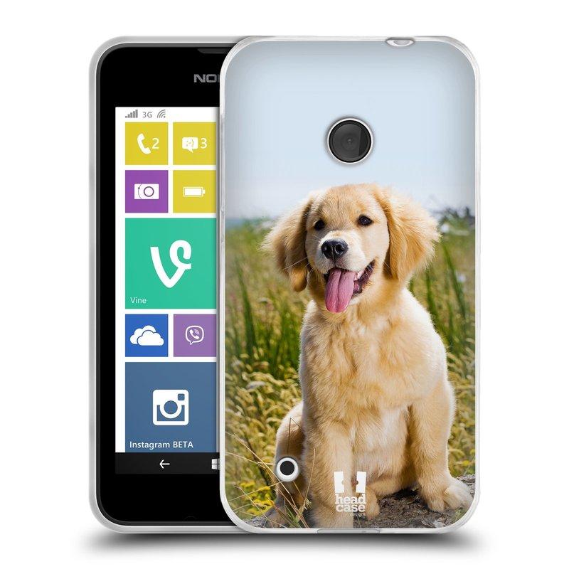 Silikonové pouzdro na mobil Nokia Lumia 530 HEAD CASE RETRÍVR (Silikonový kryt či obal na mobilní telefon Nokia Lumia 530)